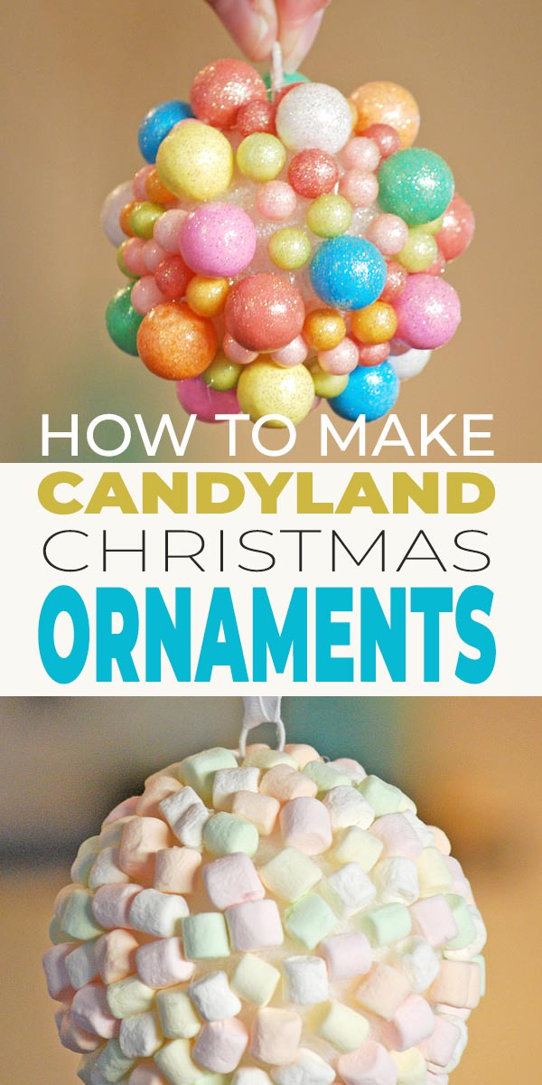 DIY Candyland Christmas Decorations & Ornaments • The Budget Decorator #candylanddecorations
