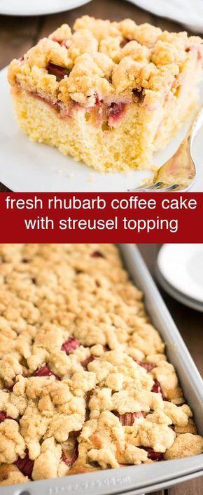 Rhubarb Coffee Cake {Easy Coffee Cake Recipe with Streusel ...
