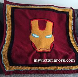 New Pattern - Iron Man Blanket   Blanket pattern, Crochet ...