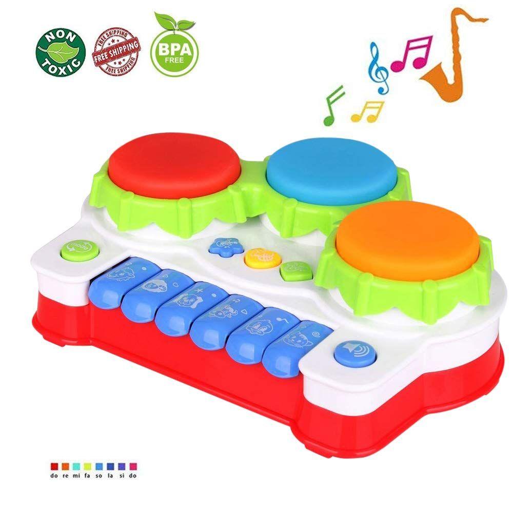 Lukat Juguete Bebés Para Niños Pequeños Piano Y Tambore Musicales Juguetes Para Infantil Juguetes Para Niños De 1 Año Juguetes Para Bebé Juguetes Para Bebés