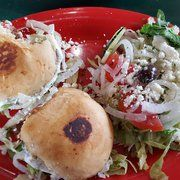 The Gyro sliders special with Greek salad from The Brick Front Grill, Sedalia, Mo.
