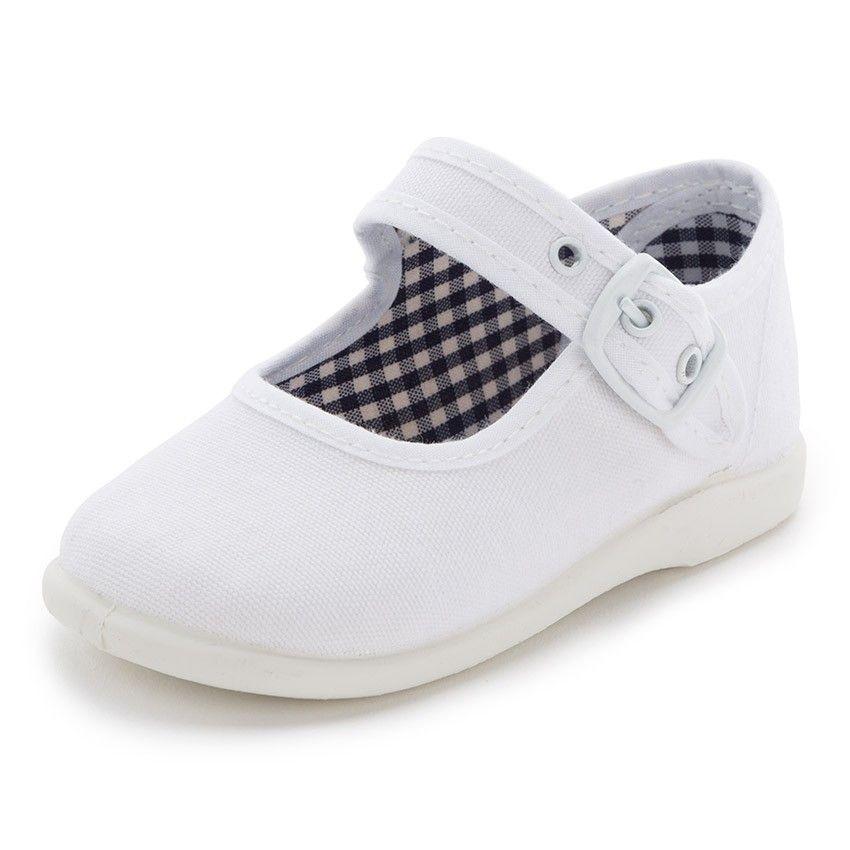 b8b27dc7ac9 Merceditas de Lona para Niñas Primeros Pasos - Calzado Infantil Pisamonas