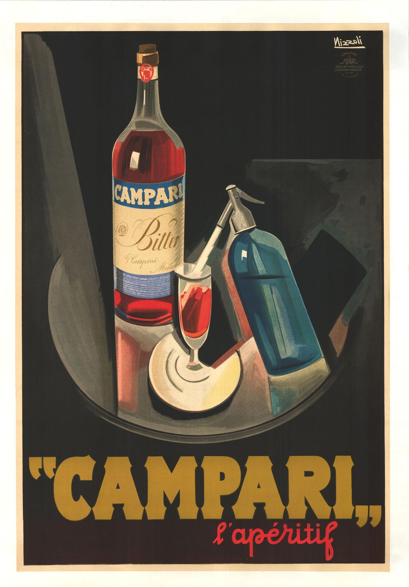 ef157a40d880 Campari L apéritif - vintage poster by Nizzoli Affiches Marci Collection