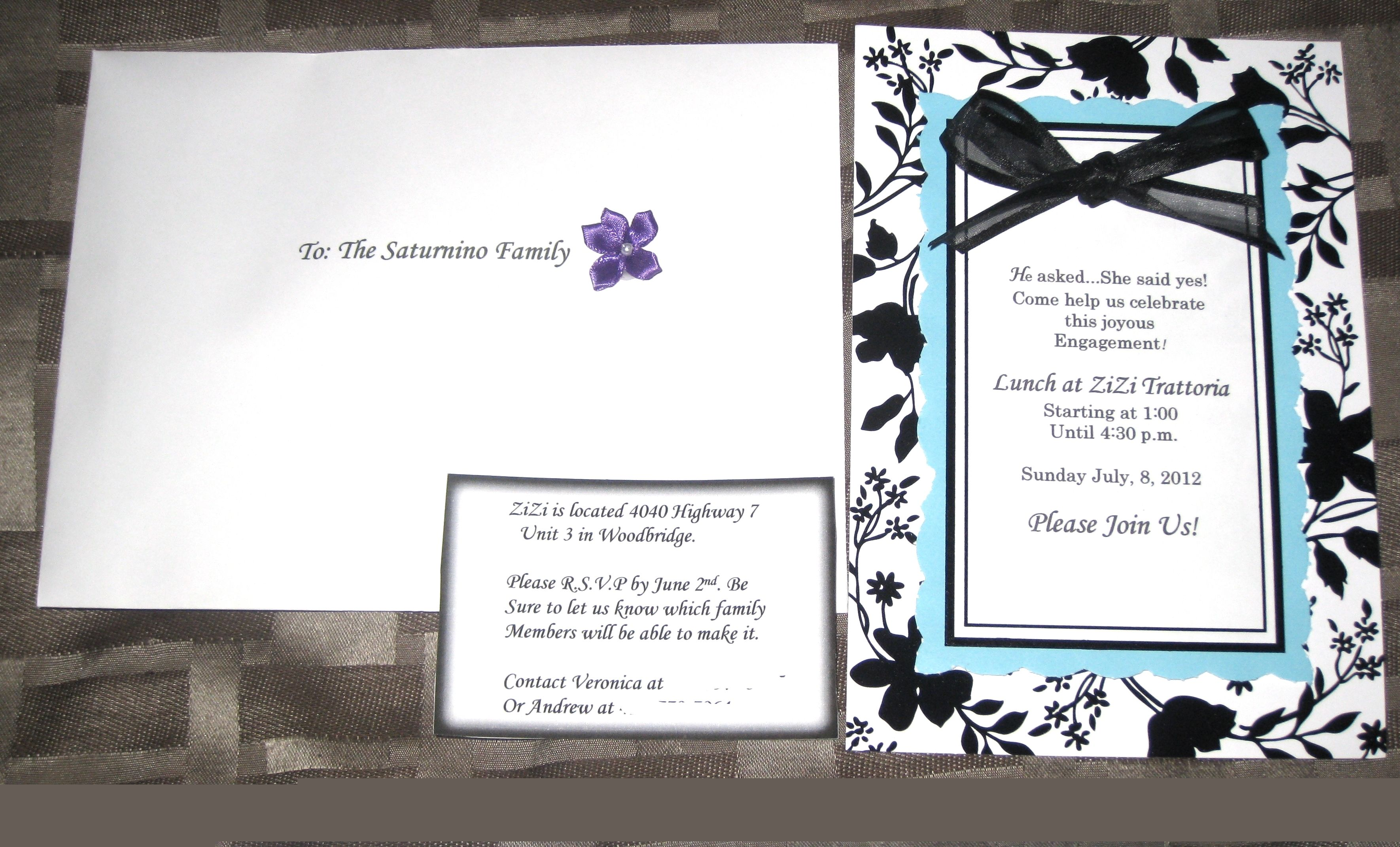 My Do It Yourself Engagement Party Invitations It Only Took Me 4 Hrs To Do P Engagement Party Invitations Engagement Party Event Planning