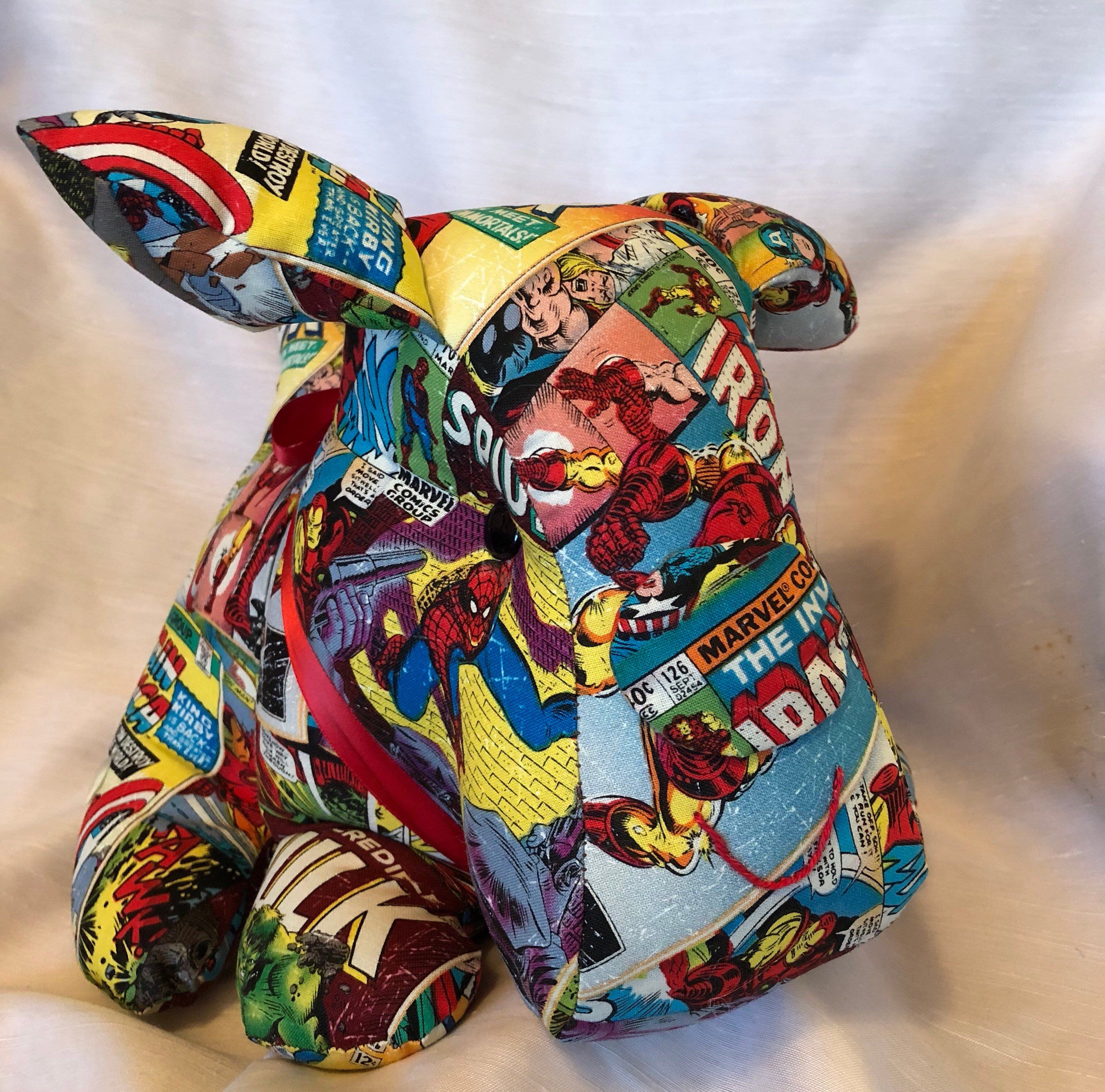 Super puppy is a hand made stuffed animal, a dog lovers