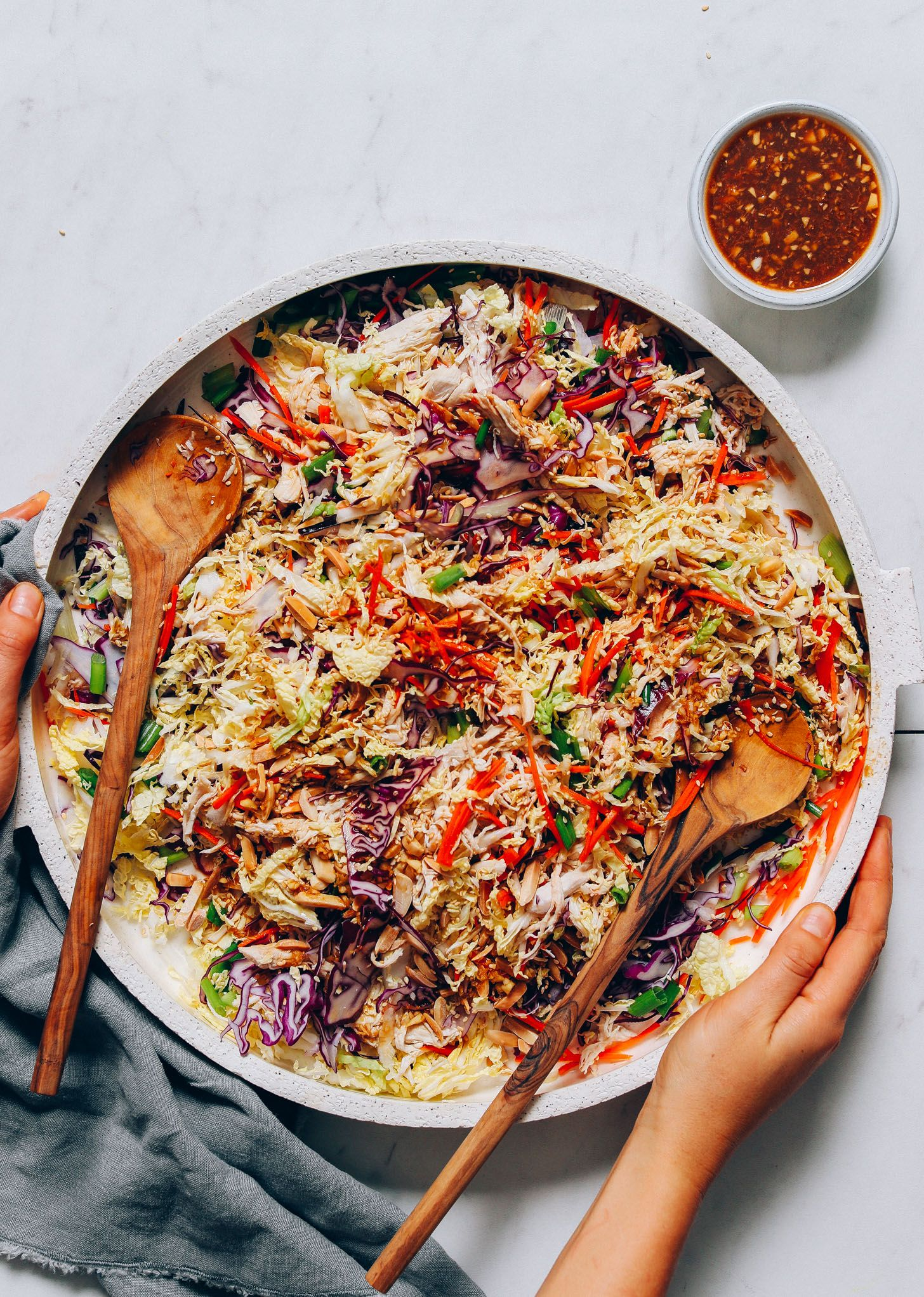 Cabbage Slaw with Sesame Ginger Dressing | Minimalist Baker Recipes