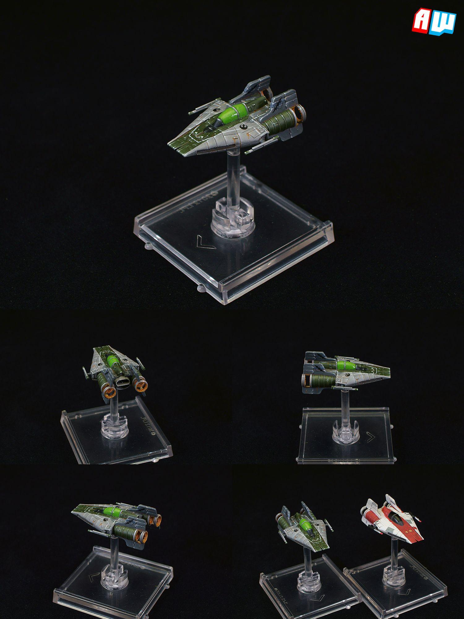 Coolminiornot Star Wars X Wing Green Squadron A Wing X Wing Miniatures Star Wars Games X Wing