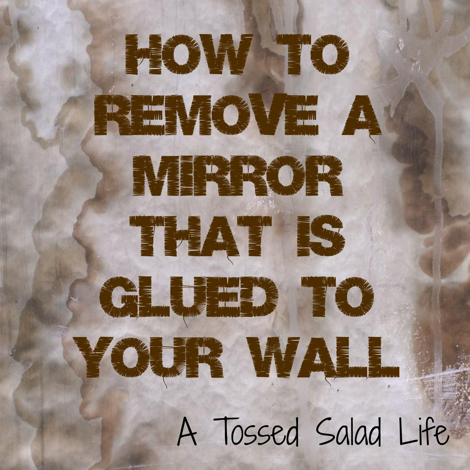 Bathroom Mirror Glued To Wall best 25+ how to fix a mirror ideas on pinterest | mirror border