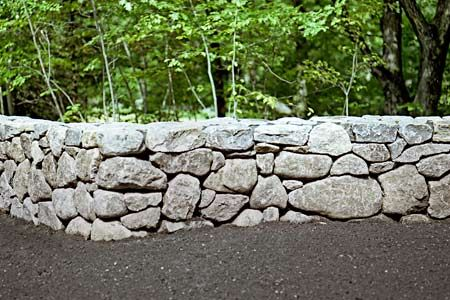 How to Build a Stone Wall | Gardens, Stone fence and House