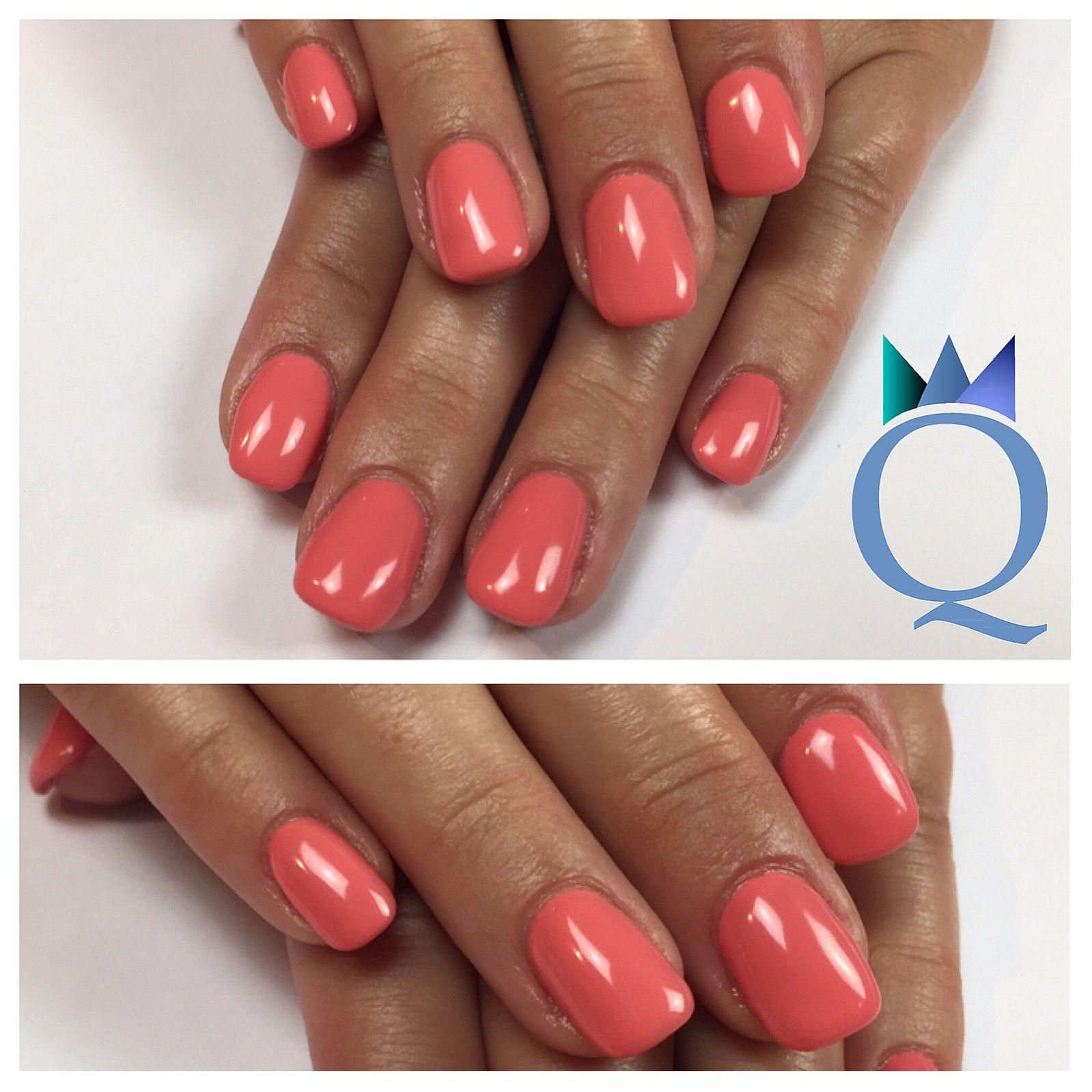 shortnails #gelnails #nails #coral #akyado #kurzenägel #gelnägel ...