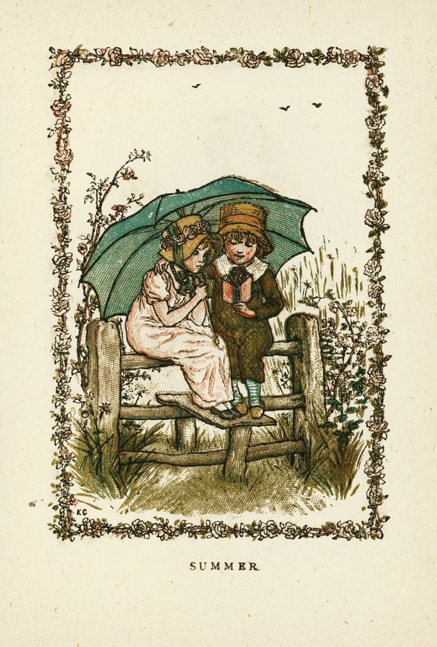 Almanack for 1883  - Page 17 - Kate Greenaway