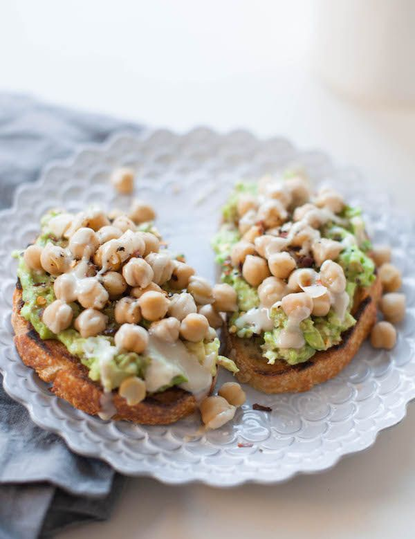 Chickpea Avocado Toast High Protein Vegan Meals Recipes Video