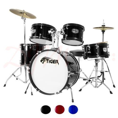 Tiger Junior Drum Kits 5 Piece The Tiger 5 Piece Junior Drum Kit Has Received Rave Reviews And Is The Ideal Size For Children Betw Drums Drum Kits Drum Set
