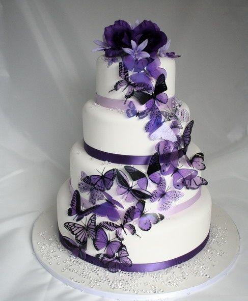Purple Butterflies Great For Wedding Cakes Wedding Ideas Wedding