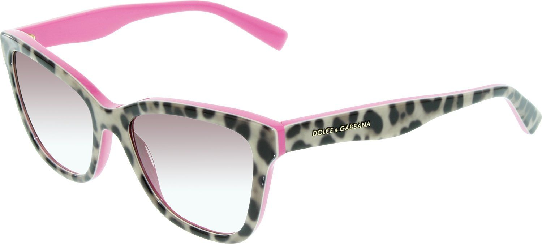 87dc7fc197a6 Dolce & Gabbana Women's 4237 Leopard On Fuchsia Frame/Violet Gradient Lens  Plastic Sunglasses