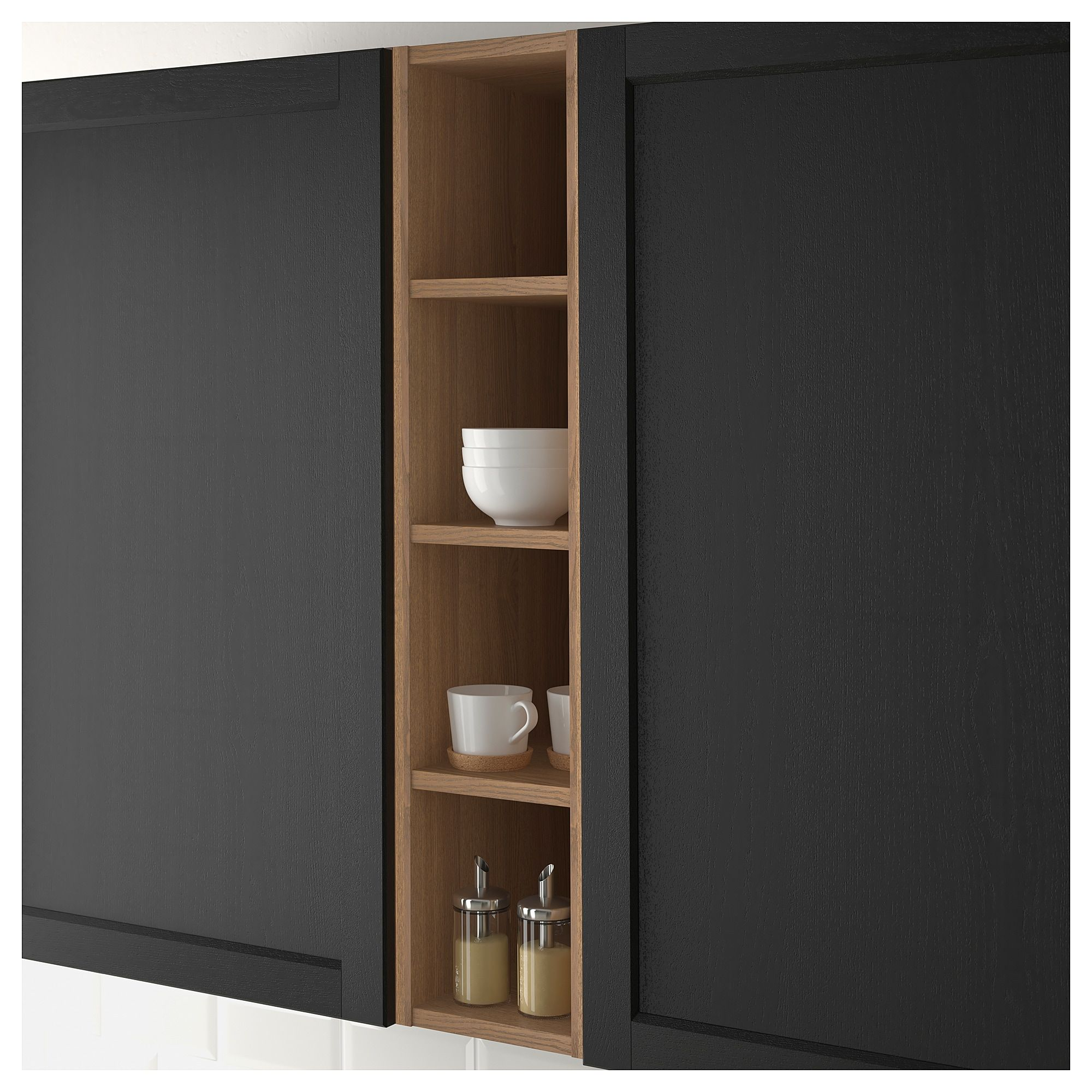 Colonna Dispensa Cucina Ikea ikea vadholma brown, stained ash open storage in 2020 | diy