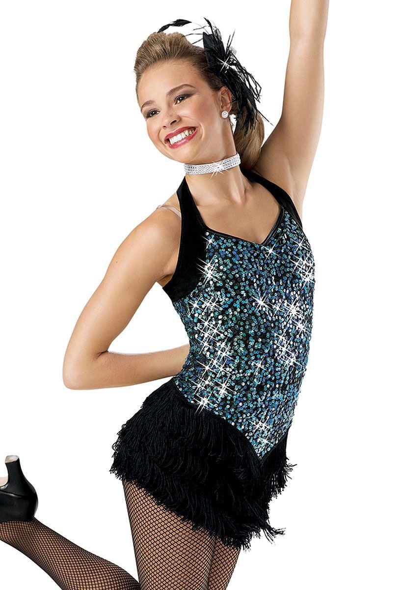 Confetti Sequin Halter Dress; Weissman Costumes