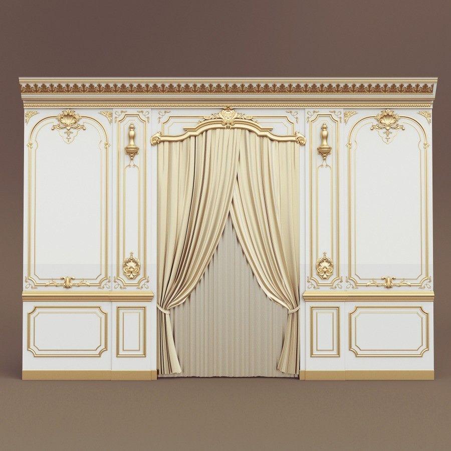 3d belloni boiserie wall panel model 110417 3d models for Boiserie dwg