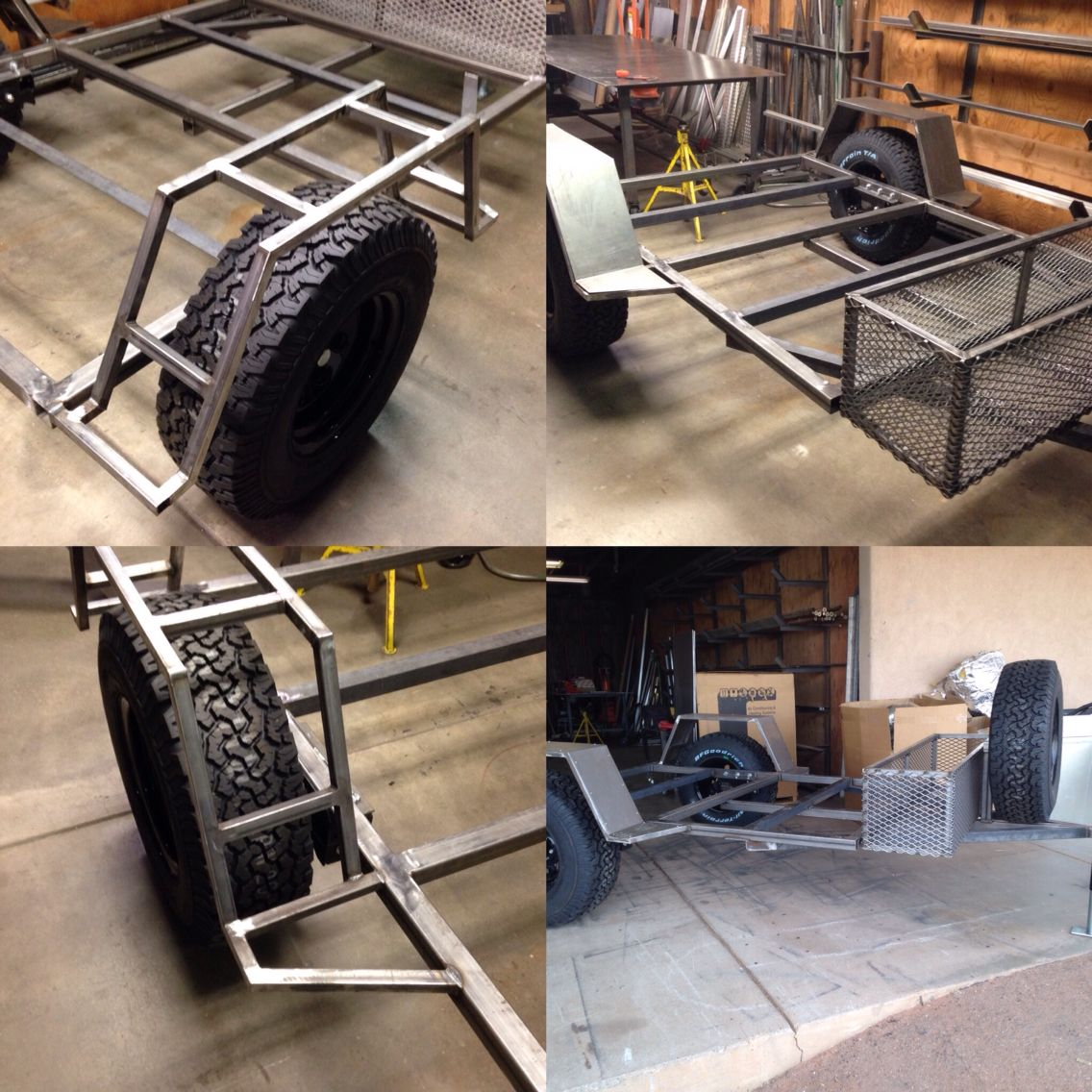 fabrication of trailer frame for all over rover all over rover