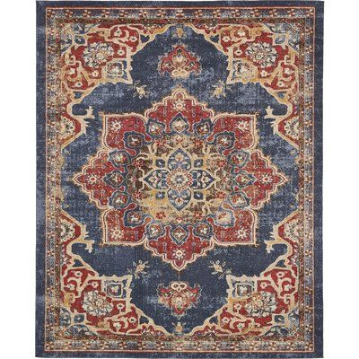 Blair Blue Red Rug With Images Area Rugs Red Area Rug