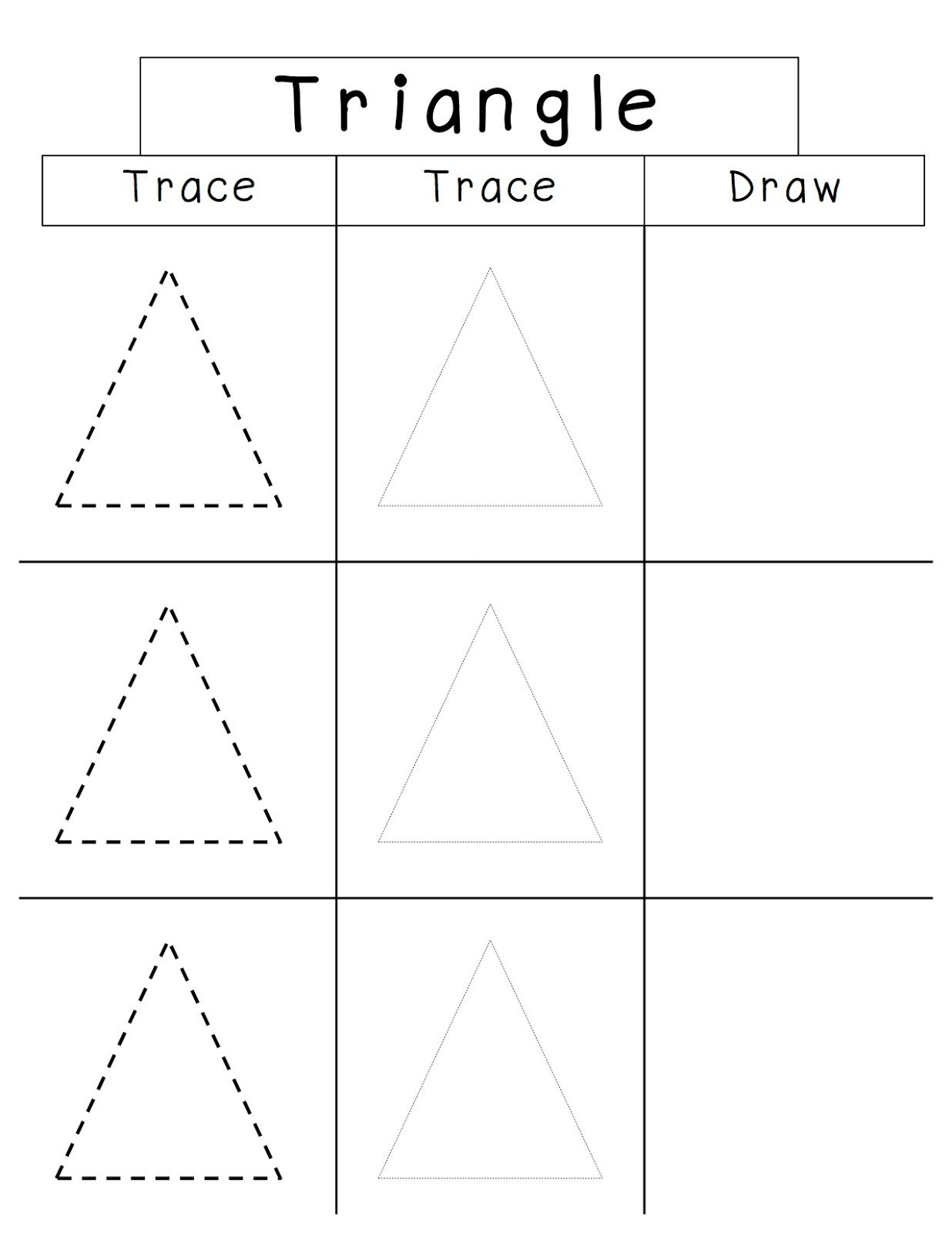 Image Result For Small Triangle Tracing