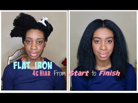 9 How To Flat Iron 4c Hair Without Heat Damage Silky Straight 4c Natural Hair Flat Iron Tutorial Yo Hair Without Heat Natural Hair Styles 4c Natural Hair