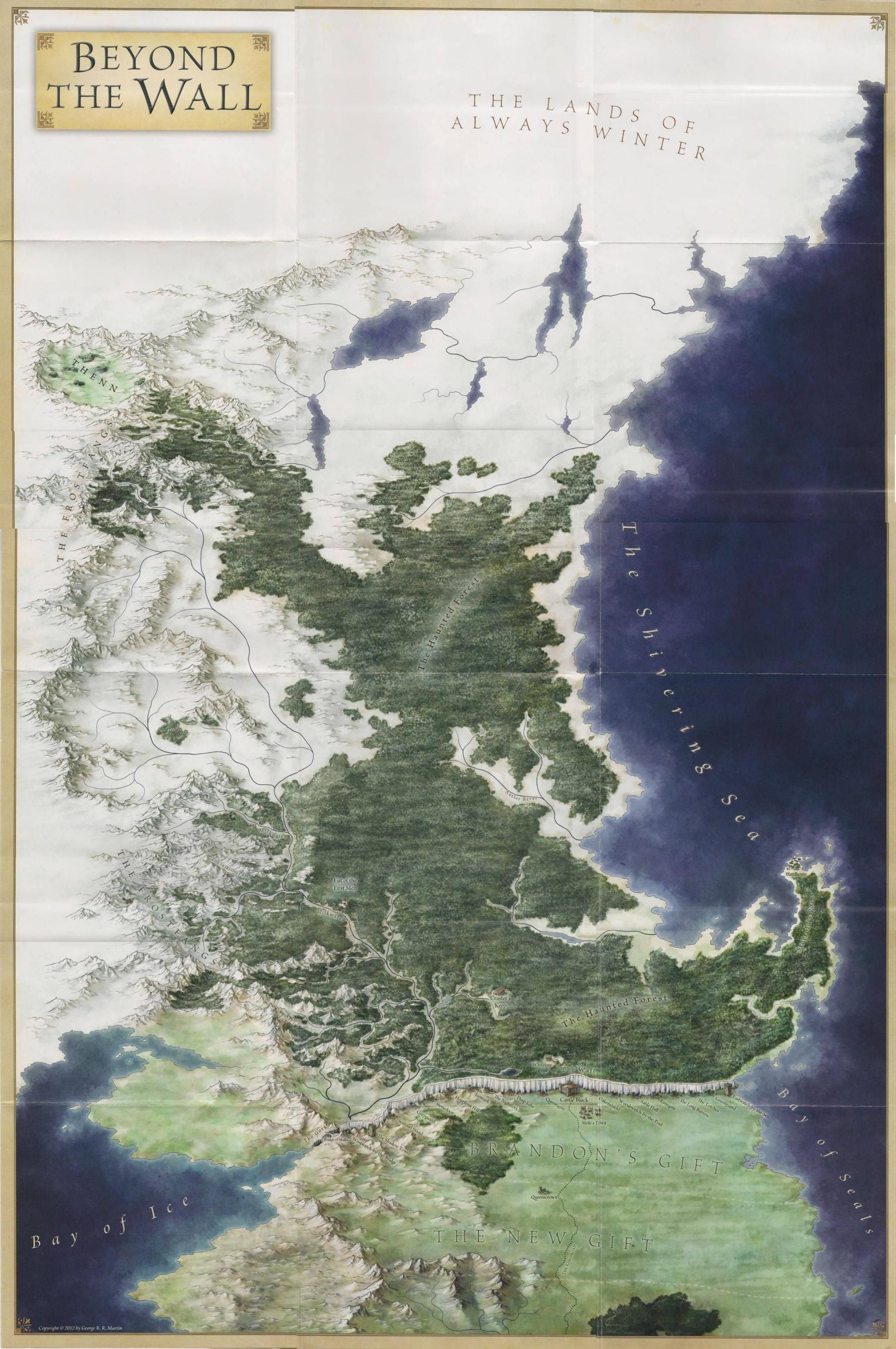 Asoiaf Maps Game Of Thrones Map Fantasy Map Ice Game Of Thrones