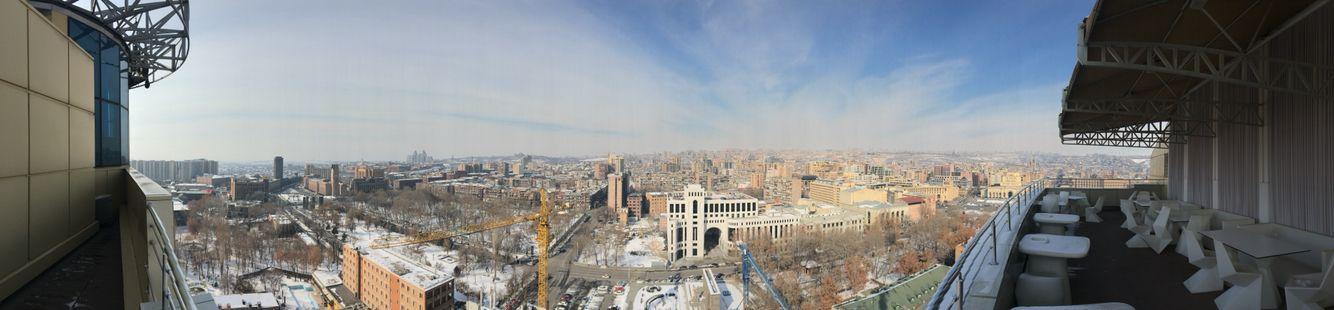 The panorama view of Yerevan downtown  elit plaza