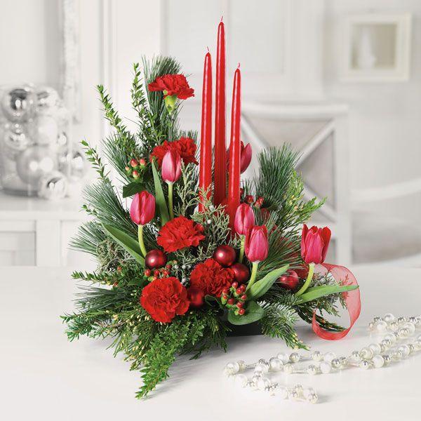 Flores y centros de mesa para Navidad 2014-2015 via @espaciohogar - arreglos de mesa