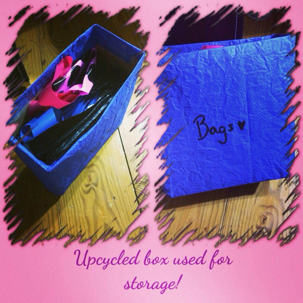 Wrapped an empty Kotex liners box in kite paper for bag storage :)