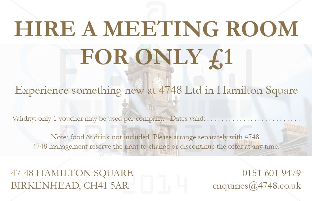 Business card sized voucher designed, printed & delivered within 24 ...