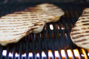 Grilled Flatbread with Elderberry-Balsamic Drizzle
