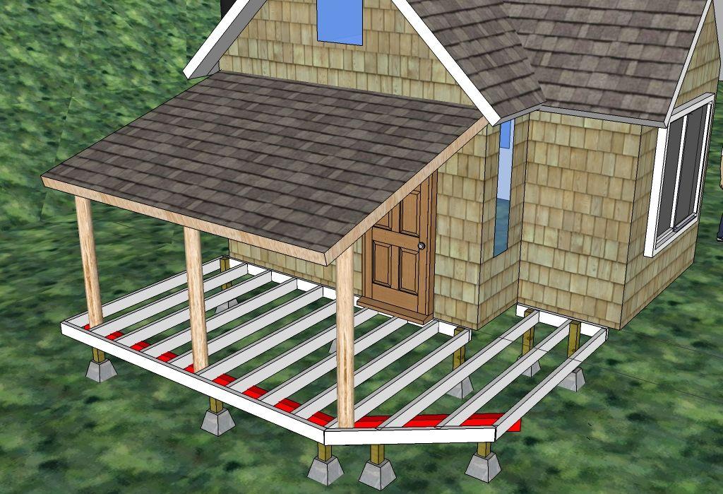 Building Our Cabin Building A Porch Front Porch Ideas Building Diy Porch