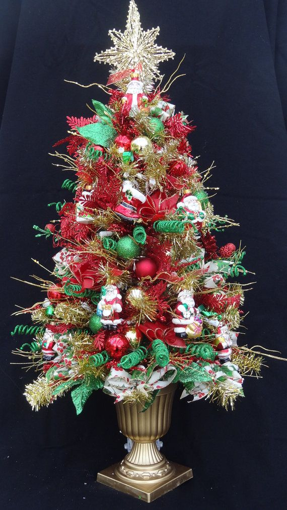 Small Lighted Christmas Tree,Lighted Table Top Tree,Miniature
