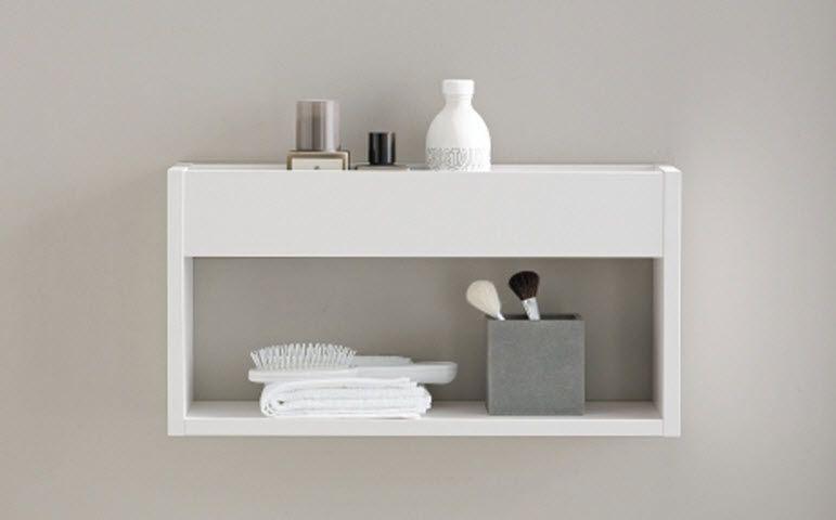 Stauraum Badezimmer ~ Wandmontiertes regal modern für badezimmer mit stauraum
