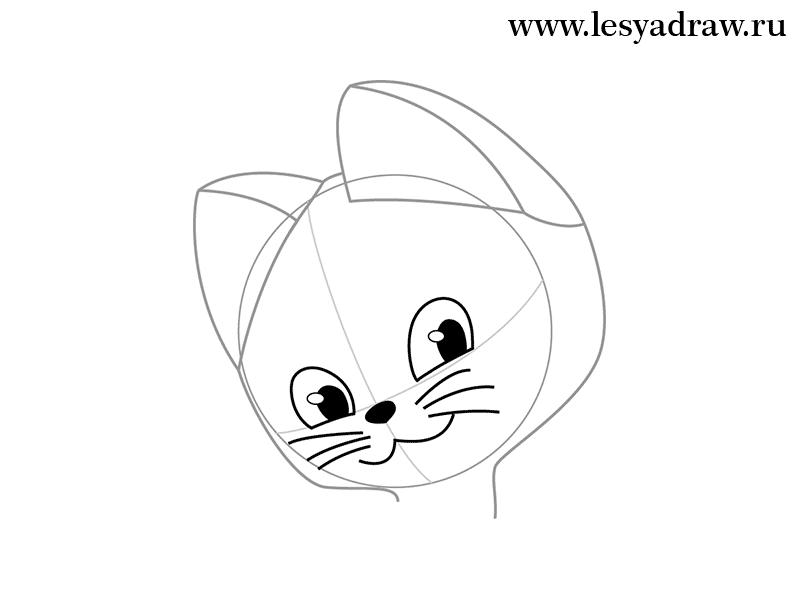 рисунки котенок гав по этапом своим