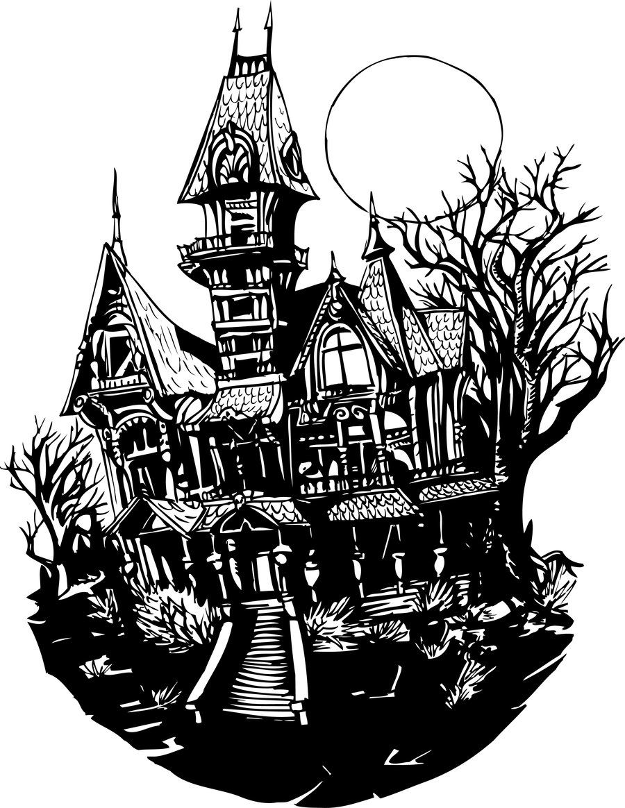 Haunted House Drawing ClipArt Best Haunted house