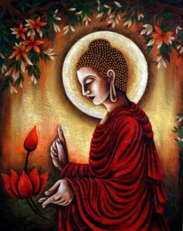 Wonderful Gautam Buddha Painting For Living Room   Google Search