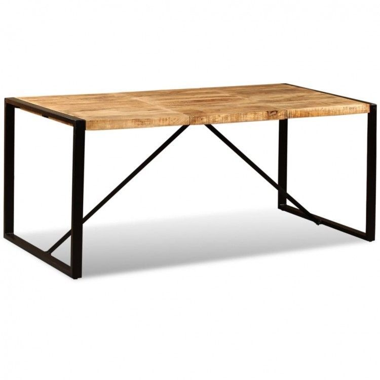 Solid Wooden Dining Table Modern Metal Desk Bar Rustic Stand Kitchen Furniture 299 00end Date N Wooden Dining Table Modern Wooden Dining Tables Dining Table