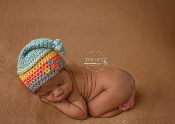 Newborn Top Knot Hat 500721dda6d