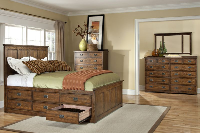 Oak Park Queen Storage Bed Bed Frame With Storage Bed Frame