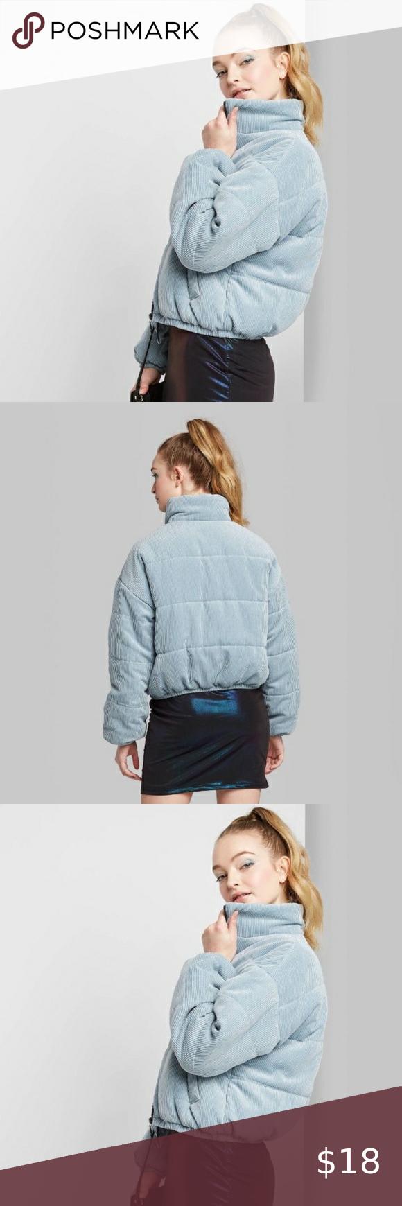 Wild Fable Blue Corduroy Bomber Puffer Jacket Xl Clothes Design Fashion Fashion Trends [ 1740 x 580 Pixel ]