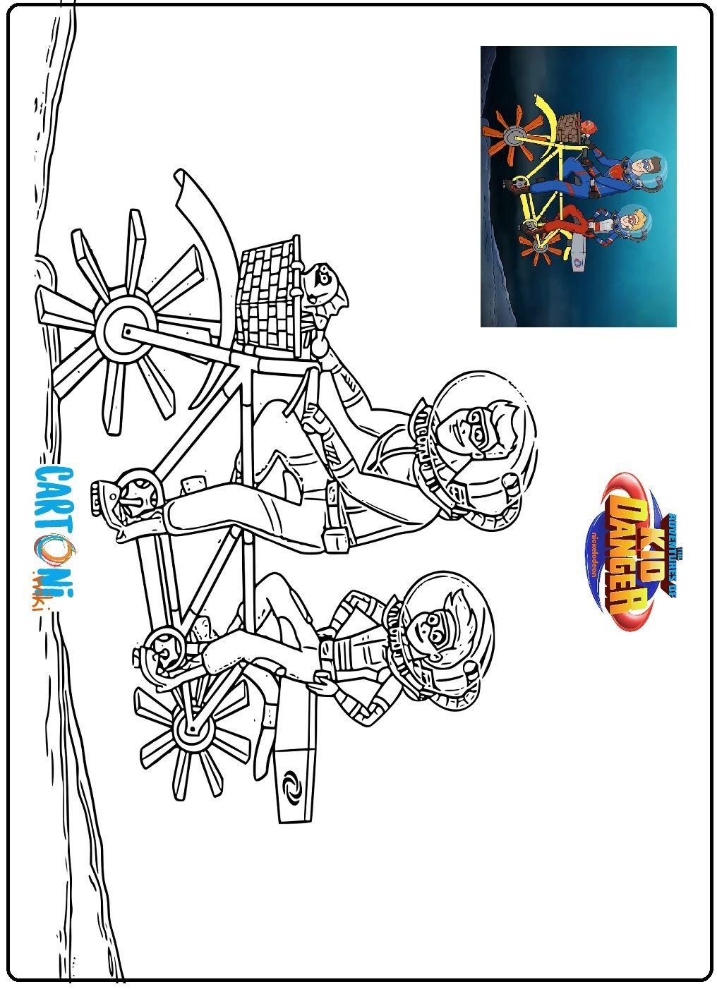Disegni Da Colorare Kid Danger E Capitan Man Il Cartone Animato Spin