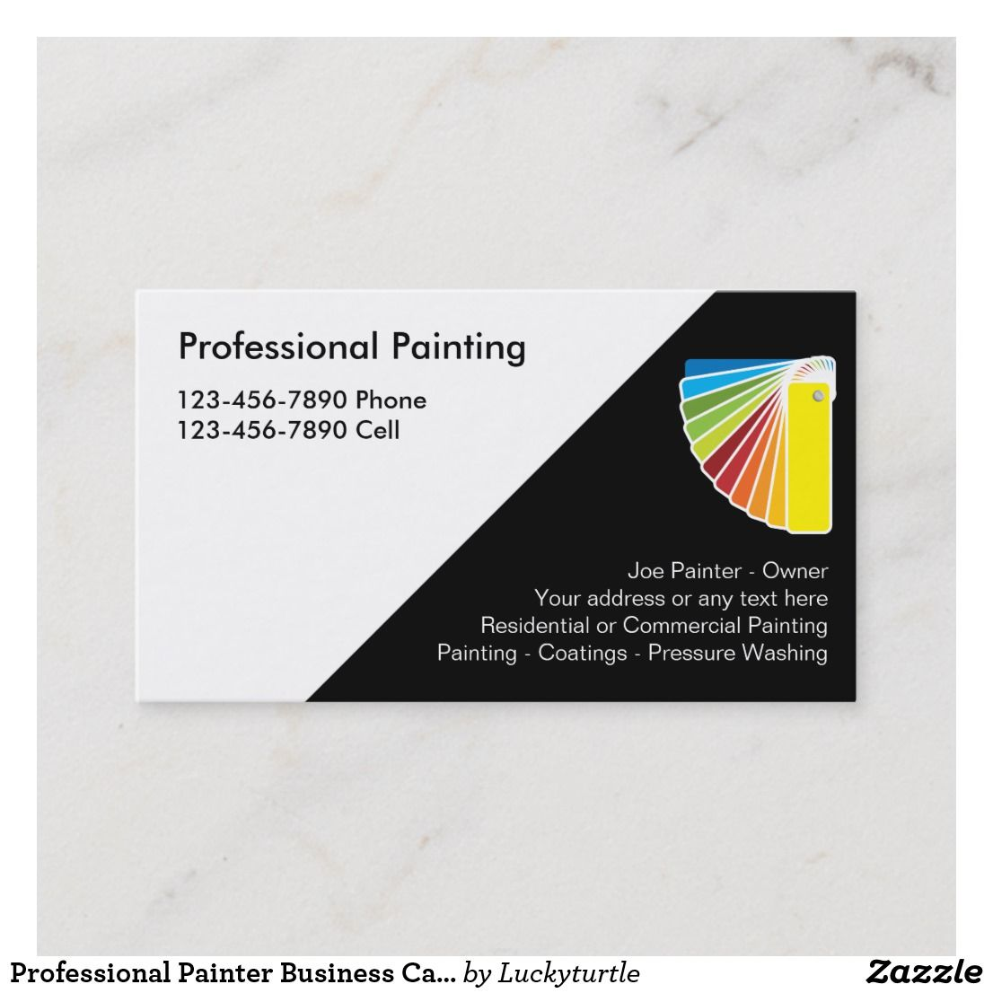 Professional Painter Business Cards Zazzle Com Painter Business Card Printing Business Cards Company Business Cards