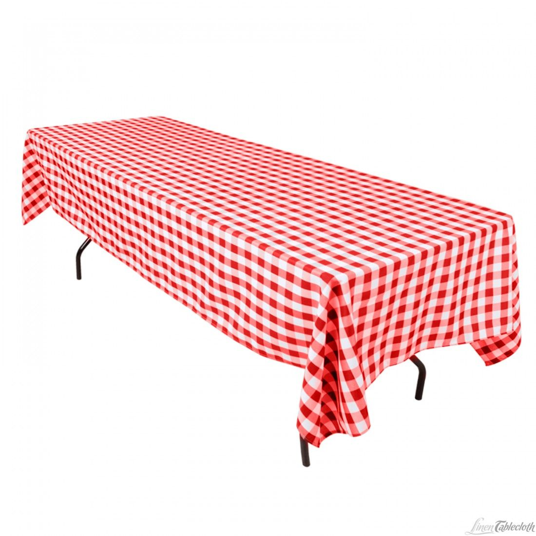 60 x 126 inch Rectangular Polyester Tablecloth Checkered ...