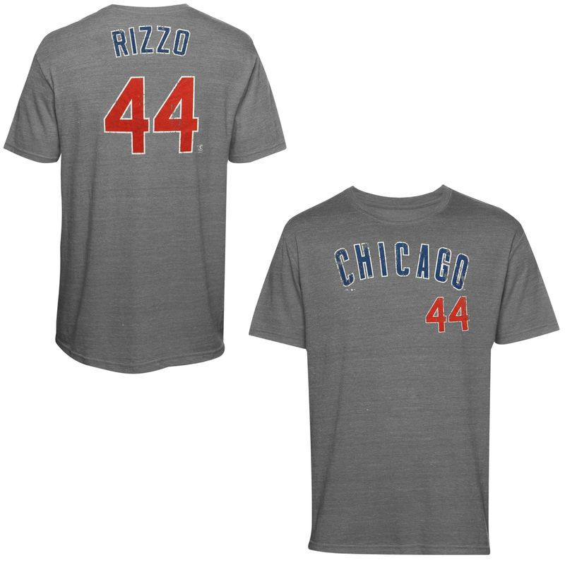 Anthony Rizzo Chicago Cubs Majestic Threads Premium Tri
