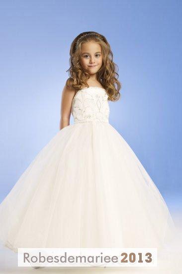 Robe de mariee enfant deguisement for Robes d enfants pour un mariage