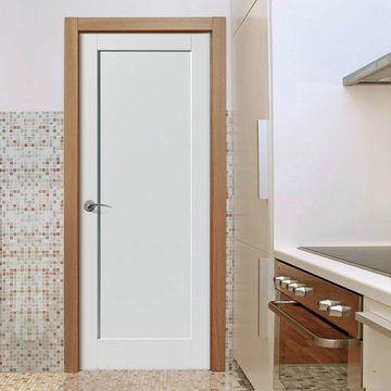 Jb Kind Antigua Fire Door Is White Primed And 1 2 Hour Fire Rated Fire Doors Bifold Doors Doors
