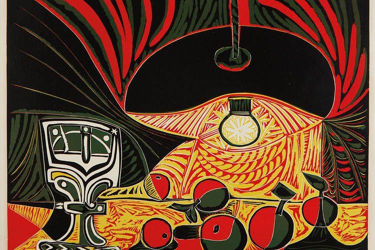 "Pablo Picasso, ""Nature morte au verre sous la lampe"" (""Still Life with Glass under the..."