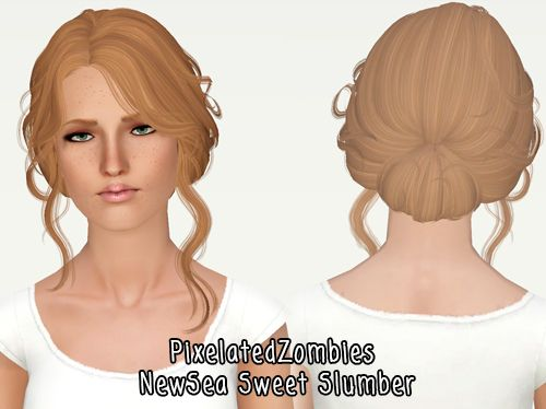 Latino Bun Hairstyle Newsea S Sweetslumber Retextured By Pixelated Zombies For Sims 3 Sims Hairs Http Simshairs Com Sims Hair Bun Hairstyles Sims 2 Hair